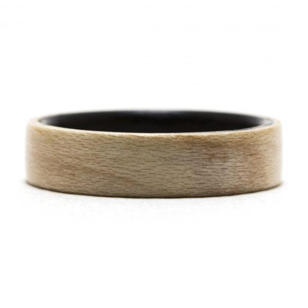Maple Lined Ebony Wooden Ring