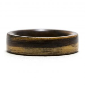 Zebrawood Inner Lined With Walnut Wood Ring