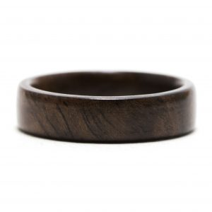 Walnut Burl Wood Ring – Size 7.5