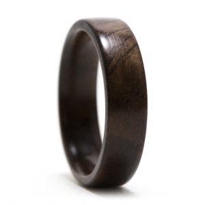 Walnut Burl Wood Ring – Size 7.5
