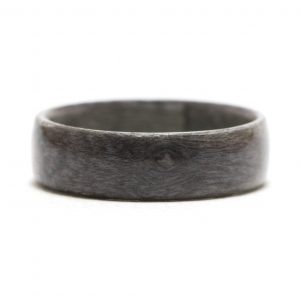 Maple Birdseye Dyed Gray Wood Ring