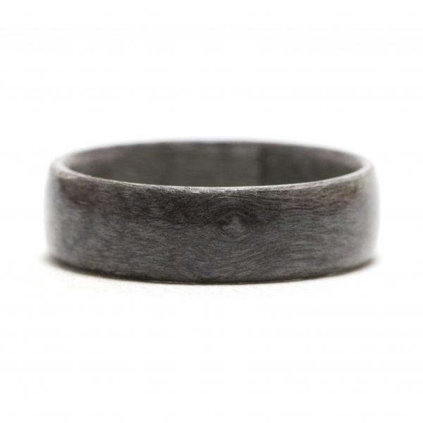 Gray maple birds-eye wooden ring