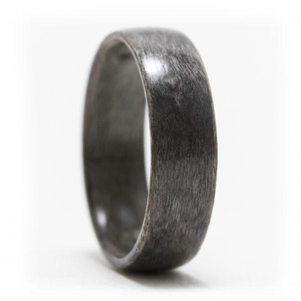 Gray maple birdseye wood ring