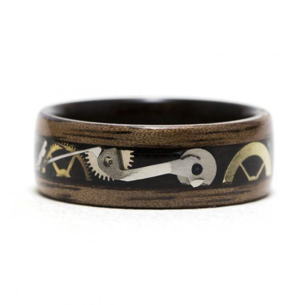 Steampunk wood ring