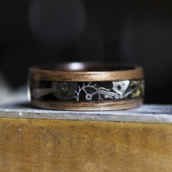 Steampunk wooden ring