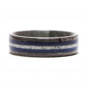 Gray Birdseye Maple Inlaid With Lapis Lazuli And Howlite – Size 9
