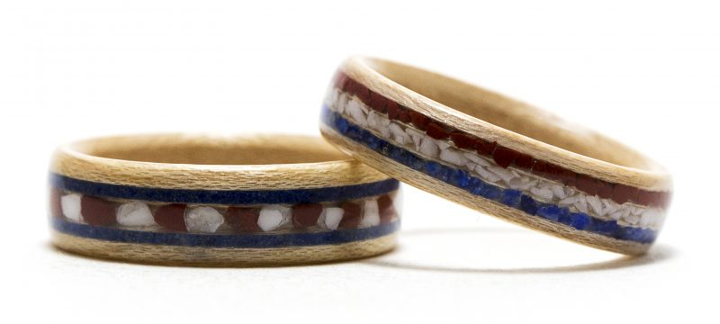 American Pride - Red, White, And Blue Wood Rings